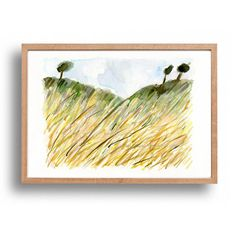 Wheat Field fine art print Wheat filed print by TheJoyofColor