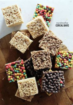 """Ifyou're still reaching for Rice Krispies the next time you whip up marshmallow treats, you could be missing out on some serious fun.Homemade marshmallow cereal bars area longtime favorite ofWaiting On Martha.""""But why have I been using only one type of cereal all these years?"""" she asks; hence, these yummy barswere born. Waiting On MarthaexperimentedwithTrix, […]"""