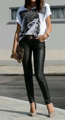 How to wear fall fashion outfits with casual style trends Mode Outfits, Fall Outfits, Summer Outfits, Casual Outfits, Fashion Outfits, Womens Fashion, Rock Chic Outfits, Fashion Clothes, Looks Style