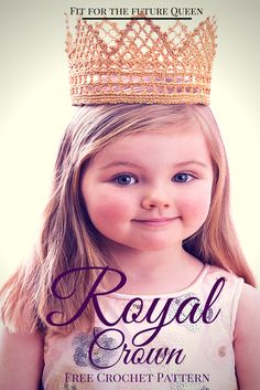 Not matter how old, every child will feel like real royalty in this beautiful crocheted crown. Many will say that this is the perfect free crochet pattern for dress-up time, but I know a few little girls who will want to wear it all the time, and t