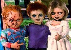 Chucky y Tiffany con su hijo Glenn o Glenda XD Horror Icons, Horror Films, Horror Art, Funny Horror, Tiffany Bride Of Chucky, Horror Movie Costumes, Chucky Halloween, Chucky Movies, Justin Bieber