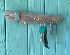 Clave de Driftwood / colgador de joyas