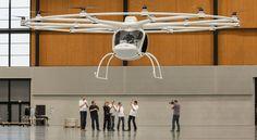 動画:18ローター搭載のVTOL機 Volocopter が初飛行に成功、バッテリー駆動で無線操作も可能