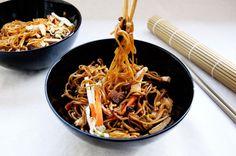 Shiitake and Tofu Noodles