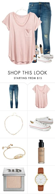 """we watched it begin again"" by neutralskies ❤ liked on Polyvore featuring MICHAEL Michael Kors, H&M, Ela Rae, Converse, Kendra Scott, Urban Decay, Kate Spade and Topshop"