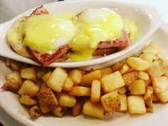Mr. V's is probably most well-known for their hearty breakfasts. Order one of their classic breakfast dishes any time of the day. You can't go wrong with their iconic dish—Eggs Benedict.