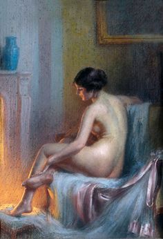At the fireside (Delphin Enjolras - )     At the fireside (Delphin Enjolras)