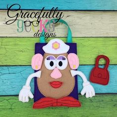 Mrs.Potato Game Set Busy Bag  Embroidery Design - 5x7 Hoop or Larger