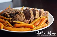 Garlic Herb Pot Roast Recipe (Instant Pot)  A simple garlic herb pot roast recipe that can be made in under an hour in a pressure cooker or Instant Pot for a quick and healthy meal!
