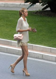 Blake Lively neutral outfit