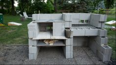 Cinder-Block Grill and Pizza Oven