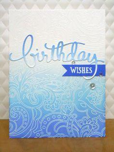 Ombre happy birthday