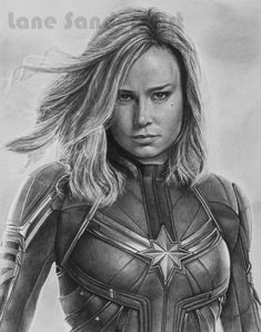 Marvel Drawing Pencil portrait drawing of Captain Marvel (Brie Larson).Pencil portrait drawing of Captain Marvel (Brie Larson). Captain Marvel, Marvel Heroes, Marvel Comics, Avengers Drawings, Avengers Art, Pencil Portrait Drawing, Realistic Pencil Drawings, Wanda Marvel, Marvel Tattoos