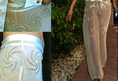 Haute Couture Pants Handmade by EnzaMorrone on Etsy