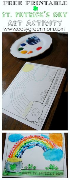 St. Patrick's Day Free Printable Art Activity
