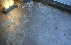 concrete pattersn | ... concrete floors. Supposedly their floral patterns can be applied to