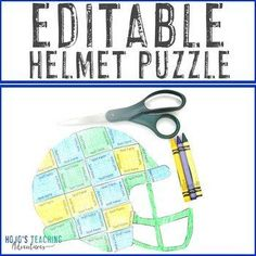 EDITABLE Helmet Activity: Create for a Football Transformation | 1st, 2nd, 3rd, 4th, 5th, 7th, 8th grade, Activities, Autumn, English Language Arts, Fun Stuff, Games, Homeschool, Math, Middle School Sports Theme Classroom, 5th Grade Classroom, Middle School Classroom, Special Education Classroom, Language Arts, English Language, Halloween Math, Shape Puzzles, Critical Thinking Skills