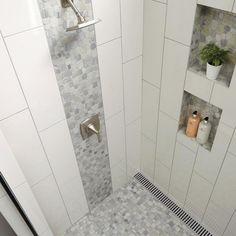 Unutterable Shower remodeling on a budget diy,Bathroom shower remodel tricks and Shower remodeling with window small bathrooms ideas. Bathroom Flooring, Home Depot Bathroom Tile, Tile Flooring, Bathroom Wall, Accent Tile Bathroom, Neutral Bathroom, Downstairs Bathroom, Bathroom Cabinets, Bathroom Fixtures