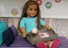 American Girl Doll Crafts and Fun!: Spice it Up: Turn a Lid into a Doll Sized Serving Tray