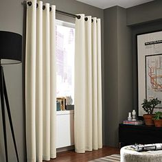 Gorgeous Home AVAILABLE IN DIFFERENT SIZES  COLORS 60 2 PANELS SOLID LINED FOAM BLACKOUT HEAVY THICK WINDOW TREATMENT CURTAINS DRAPES SILVER SOLID GROMMETS 95 LENGTH IVORY OFF WHITE * Visit the image link more details.-It is an affiliate link to Amazon.