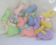 Fleece Bunnies- Cute in a basket as Easter decor.