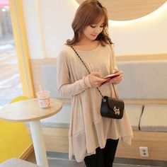 Buy 'CLICK – Long-Sleeved Round-Neck Chiffon Hem Top' with Free International Shipping at YesStyle.com. Browse and shop for thousands of Asian fashion items from South Korea and more!