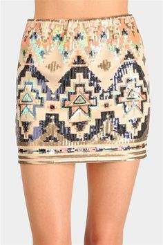 Eclectic Sequin Skirt