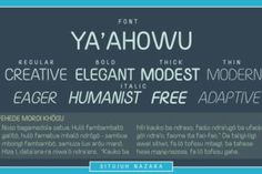 http://Yaahowu is a font created bySitujuh Nazara.This fonts comes with our commercial license.
