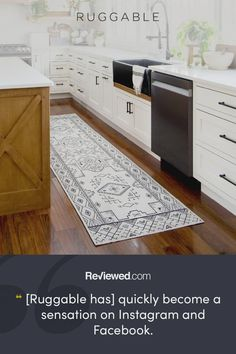 Ruggable, the original machine washable rug system! The easiest way to keep your home clean and stylish. Home Decor Styles, Cheap Home Decor, Home Decor Accessories, Diy Home Decor, Home Interior, Interior Design Living Room, Living Room Decor, Bedroom Decor, Kitchen Interior