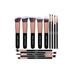 5 Pieces Basic Big Kabuki Makeup Brushes and 9 Pieces precise eye makeup brushes SOFT and SILKY to the touch, the brushes are dense and shaped well. Beauty Sponge, Makeup Sponge, Black Makeup Brush Set, Facial Sunscreen, Makeup Blender, Synthetic Brushes, Eye Makeup Brushes, Eye Gel, Powder Foundation