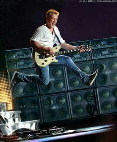 Still the man! Alex Van Halen, Eddie Van Halen, Rock N Roll, Van Halen 5150, Van Hagar, Greatest Rock Bands, Hot Band, Rock Groups, Gibson Les Paul