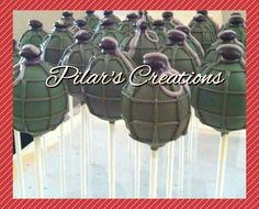 Military cake pop
