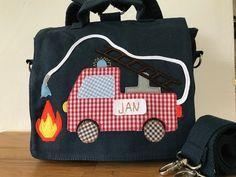 Bastelset - Bastelset Feuerwehr Applikation KiGa Tasche  - ein Designerstück von canvasrucksack bei DaWanda