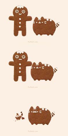 ✱ MERRY CHRISTMAS ✱ Pusheen Love, Pusheen Cat, Grumpy Cat, Crazy Cat Lady, Crazy Cats, Neko Cat, Kawaii Chibi, Christmas Drawing, Kawaii Shop