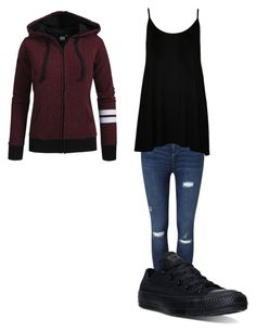 """""""Cool people"""" by johannaelyce on Polyvore featuring Miss Selfridge, WearAll and Converse"""