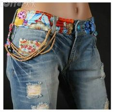 Low-rise Jeans With Cute Waistband