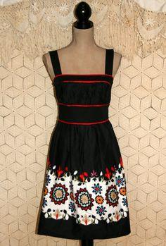 Summer Dress Block Print Dress Hippie Boho Dress by MagpieandOtis