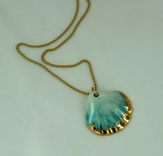 SALE 25%, black friday, ceramic jewelry, porcelain necklace, , mermaid necklace, Seashell necklace, shell necklace, porcelain jewelry, by NaniByEttyVardi on Etsy https://www.etsy.com/il-en/shop/NaniByEttyVardi?ref=hdr_shop_menu