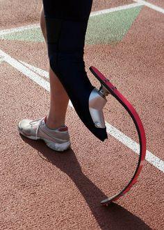 Prosthetic blade for running #prostheticlimb #athlete