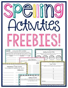 These spelling activities come from my SPELLING ACTIVITIES FUN PRACTICE PACK!  My students LOVE spelling center time, and when I assign one of these activities for homework, they are actually excited. :-)*I have updated this to include freebies for spelling word lists of 10 words, 15 words, and 20 words!
