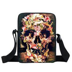 Punk Skull Women Messenger Bag Ladies Handbags Children Mini Cross Bag Boys Women Men Rock Shoulder Bags Kids School Bags