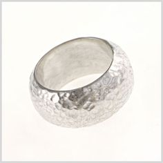 I love this hammered ring by LISA GRANT COLLECTION - hand made sterling silver jewellery