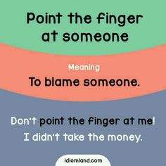 Point The Finger At Someone
