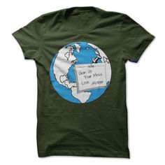 "Earth Day - April 22, 2014. Grab This Shirt ""Clean Up Your Mess- Love Mother"" Proudly To Say You Want To Protect Mother Earth.. One-Of-A-Kind, Original Shirt."