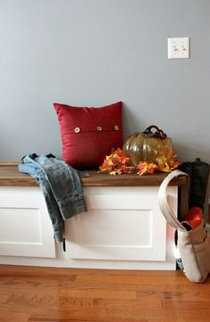 DIY Built-in Bench.This is that update you've been dreaming about since you were a child!