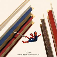"""2.26 fri """"Bookmark"""" . 「たしかこの辺りまで読んだかな。」 . #本 #しおり #スパイダーマン #Bookmark #SpiderMan . ーーーーーーー #写真集第2弾予約受付中 #プロフィールのURLから飛べます"""
