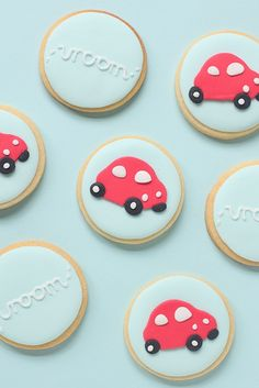 little red car cookies by hello naomi, via Flickr