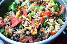 Quinoa Taco Salad. Great to pack for lunch to take to work!