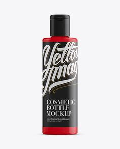 Glossy Plastic Bottle With Flip-Top Mockup (Preview)