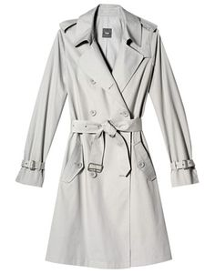 Don't like warm colors?  Choose a taupe, eggshell, or gray trench coat.